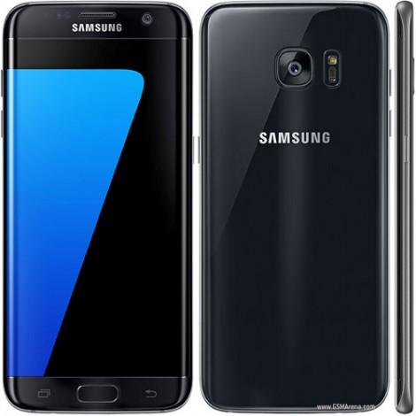 Samsung Galaxy S7 Edge + Free Clear View Cover   Black