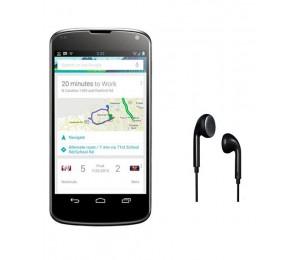 LG Nexus 4 E960 | Black Plus Universal Earpiece