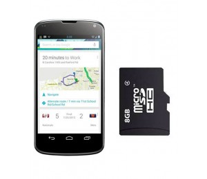 LG Nexus 4 E960 | Black Plus Oraimo 8GB Memory Card