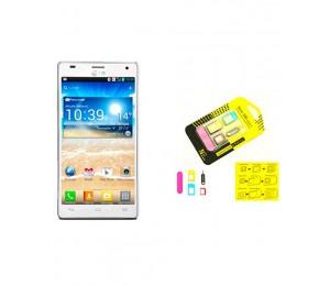 LG Optimus 4X P880 | White Plus Universal Nano Sim Adapter
