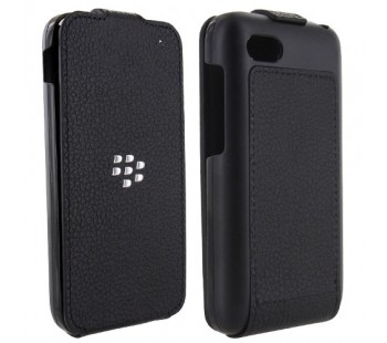 BlackBerry Q5 Leather Flip Shell