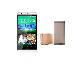 HTC Desire 820 A51 | Single Sim | White + Universal Besky 5200MAH Power Bank