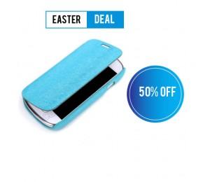 Samsung S3 Mini Flip Cover | Light Blue