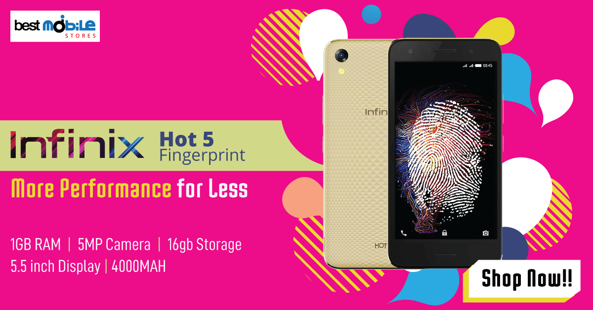 Infinix hot 5 Lite fingerprint gold